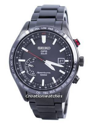Seiko Sportura GPS Solar World Time Japan Made SSF005 SSF005J1 SSF005J Men's Watch