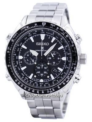 Seiko Prospex Radio Sync Solar World Time Chronograph SSG001 SSG001P1 SSG001P Men's Watch