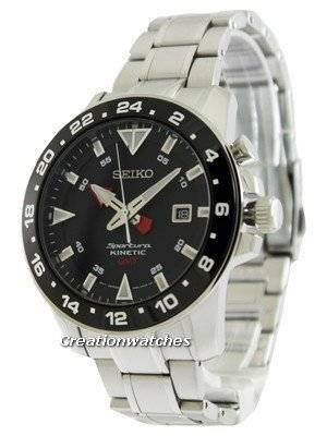 Seiko Sportura Kinetic GMT SUN015 SUN015P1 SUN015P Men's Watch