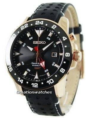 Seiko Sportura Kinetic GMT SUN028 SUN028P1 SUN028P Men's Watch
