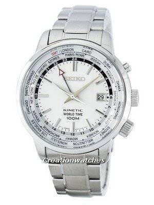 Seiko Kinetic World Time GMT SUN067 SUN067P1 SUN067P Men's Watch