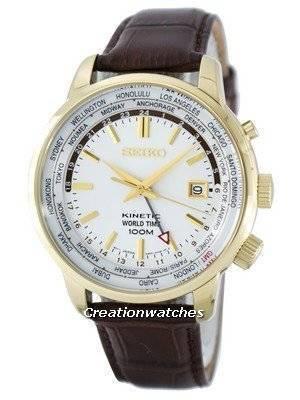 Seiko Kinetic World Time GMT SUN070 SUN070P1 SUN070P Men's Watch