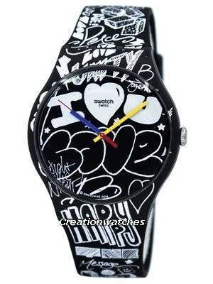 Swatch Originals Love Wall Quartz SUOB125 Unisex Watch