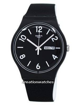 Swatch Originals Backup Black Quartz SUOB715 Unisex Watch