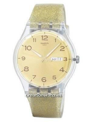 Swatch Originals Golden Sparkle Quartz SUOK704 Unisex Watch