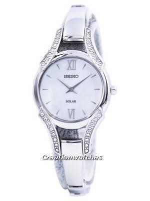 Seiko Solar Swarovski Crystals SUP213 SUP213P1 SUP213P Women's Watch