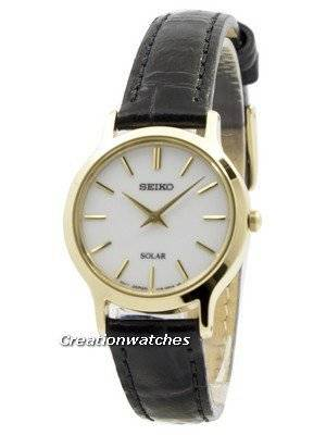 Seiko Solar White Dial Leather Strap SUP300 SUP300P1 SUP300P Women's Watch