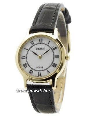 Seiko Solar White Dial Leather Strap SUP304 SUP304P1 SUP304P Women's Watch