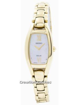 Seiko Solar Gold Tone SUP314 SUP314P1 SUP314P Women's Watch