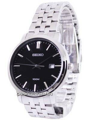 Seiko Quartz Black Dial SUR109P1 SUR109P Men's Watch