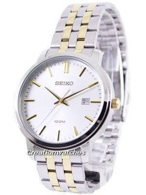 Seiko Quartz Two Tone SUR111P1 SUR111P Men's Watch