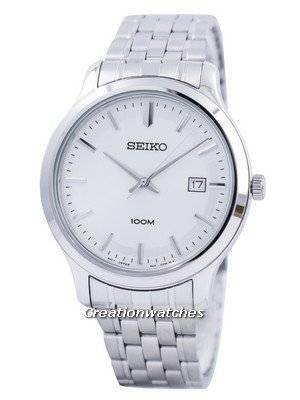 Seiko Quartz White Dial 100M SUR141 SUR141P1 SUR141P Men's Watch