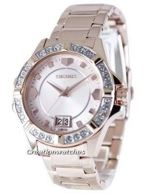 Seiko Quartz Crystals Rose Gold SUR802 SUR802P1 SUR802P Women's Watch
