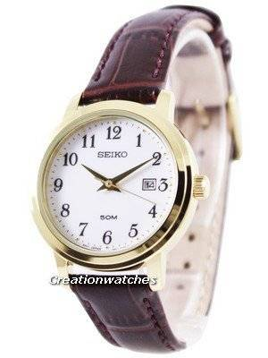 Seiko Quartz Leather Strap SUR822 SUR822P1 SUR822P Women's Watch