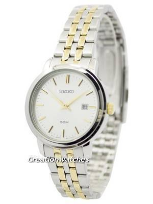 Seiko Quartz Two Tone Stainless Steel SUR825 SUR825P1 SUR825P Women's Watch