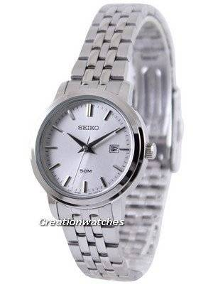 Seiko Quartz Silver Dial SUR831P1 SUR831P Women's Watch