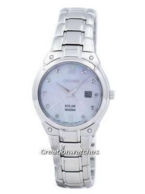 Seiko Solar Diamond Accent SUT213 SUT213P1 SUT213P Women's Watch