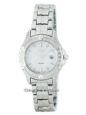 Seiko Quartz Diamond Accent 100M SXDA97 SXDA97P1 SXDA97P Women's Watch
