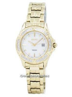 Seiko Gold-Tone Diamond Ladies Watch SXDB02P1 SXDB02P SXDB02 with 24 Diamonds