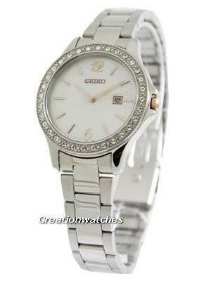 Seiko Quartz Swarovski Crystal SXDF79 SXDF79P1 SXDF79P Women's Watch