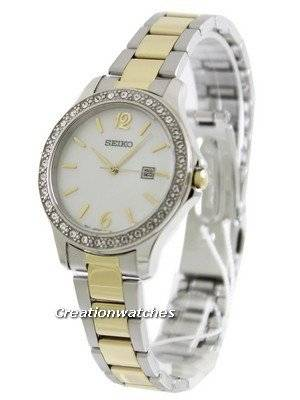 Seiko Quartz Swarovski Crystals SXDF81P1 SXDF81P SXDF81 Women's Watch