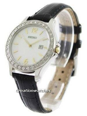Seiko Quartz Swarovski Crystal SXDF81P2 Womens Watch