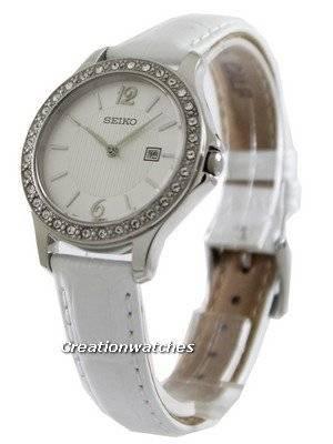 Seiko Quartz Swarovski Crystal SXDF83P1 SXDF83P SXDF83 Women's Watch