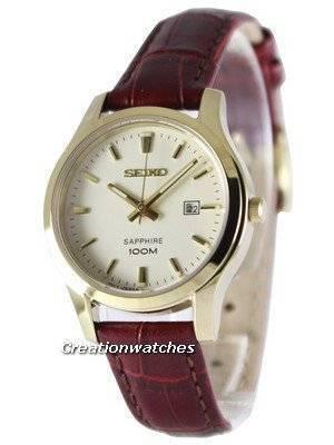 Seiko Sapphire Quartz 100M SXDG66 SXDG66P1 SXDG66P Women's Watch
