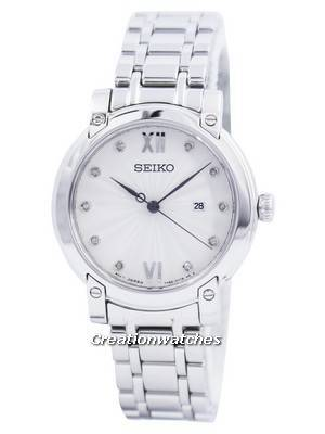 Seiko Quartz Diamond Accent SXDG79 SXDG79P1 SXDG79P Women's Watch