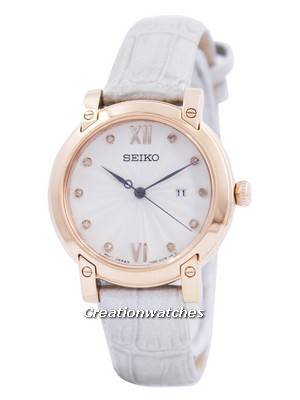 Seiko Quartz Diamond Accent SXDG82 SXDG82P1 SXDG82P Women's Watch