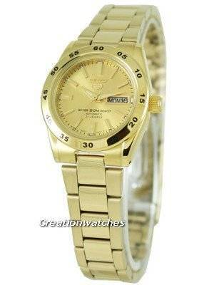 Seiko 5 Sports Womens Automatic Gold Plated Watch SYMG44K1 SYMG44