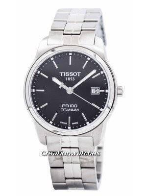 Tissot T-Classic PR 100 Quartz Titanium T049.410.44.051.00 T0494104405100 Men's Watch