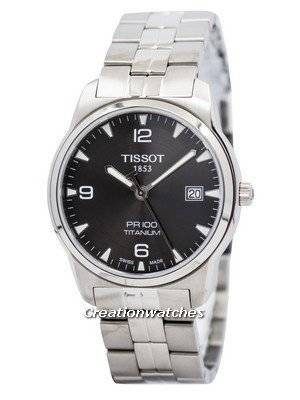 Tissot T-Classic PR 100 Titanium Quartz T049.410.44.067.00 T0494104406700 Men's Watch