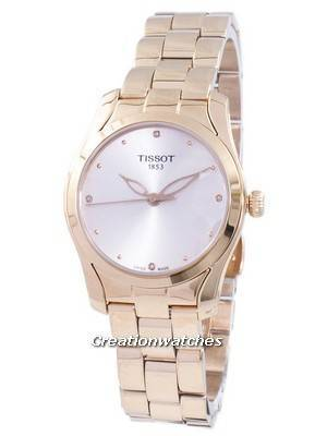 Tissot T-Wave Quartz Diamond Accents T112.210.33.456.00 T1122103345600 Women's Watch