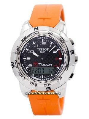 Tissot T-Touch Titanium Orange Rubber T33.7.878.92 T33787892 Men's Watch