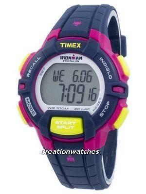 Timex Sports Ironman Triathlon Rugged 30 Lap Indiglo Digital T5K813 Women's Watch