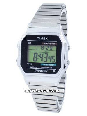 Timex Timeless Classic Indiglo Chronograph Alarm Digital T78587 Men's Watch