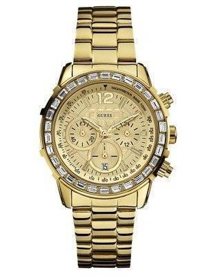 GUESS Dazzling Sport Gold-Tone Chronograph U0016L2 Women's Watch