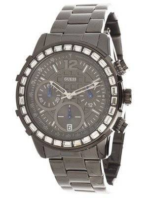 GUESS Dazzling Sport Gunmetal Chronograph U0016L3 Women's Watch