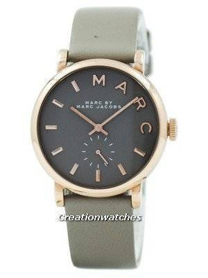 Refurbished Marc By Marc Jacobs Baker Grey Dial Leather Band MBM1266 Women's Watch