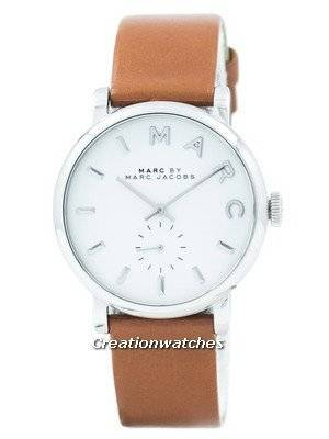 Refurbished Marc By Marc Jacobs Baker White Dial Leather Band MBM1265 Women's Watch
