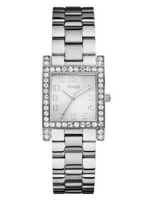 Guess Silver-Tone Crystal U0128L1 Women's Watch