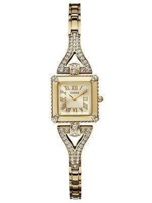 Guess Gold Tone Stainless Steel Quartz Crystals U0137L2 Women's Watch