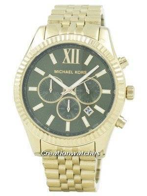 Refurbished Michael Kors Lexington Chronograph Green Dial MK8446 Men's Watch