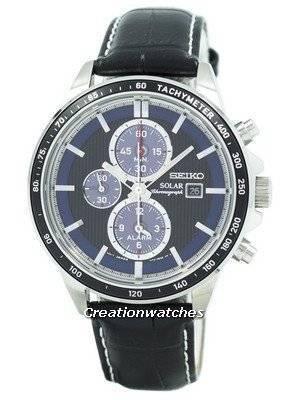 Refurbished Seiko Solar Chronograph Alarm SSC437 SSC437P1 SSC437P Men's Watch