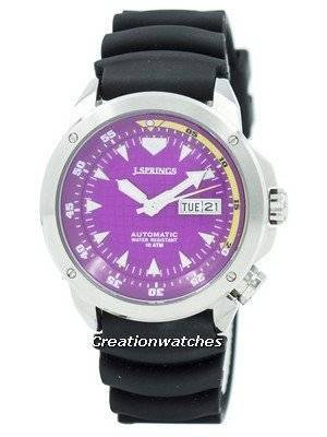Refurbished J.Springs by Seiko Sports Automatic Purple Dial 100M BEB087 Men's Watch