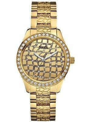Guess Feminine Animal Crystals Silver Tone Quartz U0236L2 Women's Watch