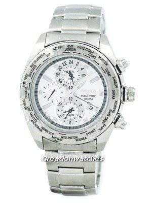Refurbished Seiko Premier World Time Alarm Quartz SPL029 SPL029P1 SPL029P Men's Watch