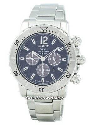 Refurbished Seiko Solar Chronograph SSC221 SSC221P1 SSC221P Men's Watch