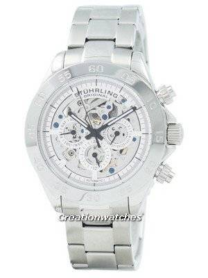 Refurbished Stuhrling Original Monaco Elite Automatic Skeleton Dial Multifunction 487.01 Men's Watch